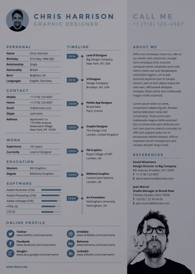 10 free resume templates for artists the big bad world of concept art